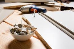Asortowani Woodwork, ciesielki i budowy narzędzia Obrazy Royalty Free