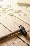 Asortowani Woodwork, ciesielki i budowy narzędzia, sosnowy drewno Obrazy Stock
