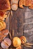 Asortowany chleb i ciasto Zdjęcia Royalty Free