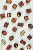 Asortowany czekoladowy cukierki tło Fotografia Stock