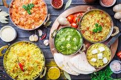 Asortowany indyjski jedzenie Zdjęcia Stock