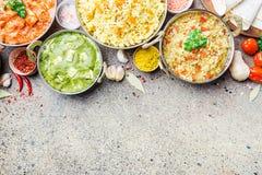 Asortowany indyjski jedzenie Zdjęcie Stock