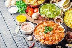 Asortowany indyjski jedzenie Obraz Royalty Free