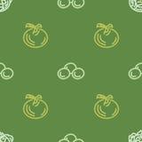 Asortowany jarzynowy wektorowy bezszwowy wzór z pomidorem i kukurudzą Obraz Stock