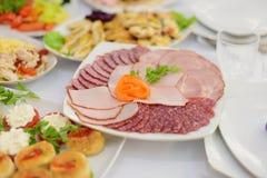 Asortowany mięso talerz Zdjęcie Royalty Free