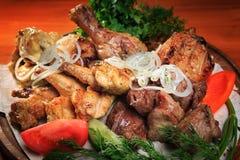 Asortowany mięso piec na grillu Obraz Royalty Free