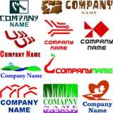asortowany przykładów loga set Fotografia Stock