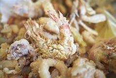 Asortowany smażący owoce morza obrazy royalty free