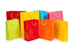 asortowanych toreb barwiony zakupy biel Obrazy Royalty Free