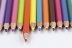 Asortyment coloured ołówki Zdjęcie Royalty Free