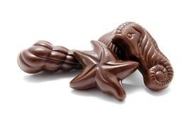 Asortyment czekoladowych cukierków cukierki odizolowywający Fotografia Stock