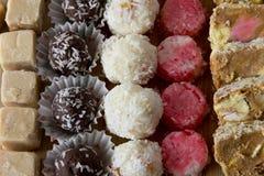 Asortyment Domowej roboty cukierki Fotografia Stock