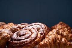 Asortyment francuscy ciasta Obrazy Royalty Free