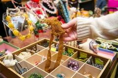 Asortyment kolorowa handmade biżuteria Fotografia Stock