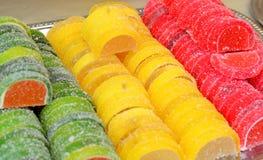 Asortyment kolorowy owocowej galarety cukierek zdjęcie royalty free