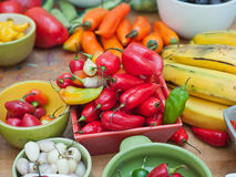 Asortyment Peruwiańscy gorącego chili pieprze Fotografia Royalty Free