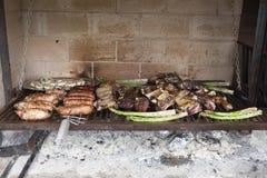 Asortyment piec na grillu mięso Zdjęcie Royalty Free