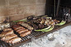 Asortyment piec na grillu mięso Zdjęcia Stock