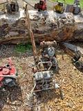Asortyment stary leśny wyposażenie fotografia stock