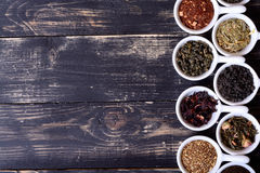 Asortyment sucha herbata obrazy stock