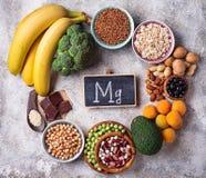 Asortyment zawiera magnez jedzenie obraz stock