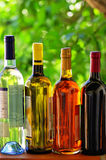 asortymentu butelek wino Zdjęcia Stock