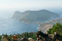 Asos village in Cephalonia royalty free stock photo