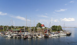 Aspö harbor. Beautiful and idyllic harbor at Aspö, Finland Stock Images