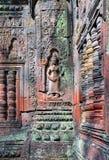 aspara浅浮雕在吴哥窟 免版税库存图片