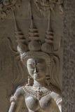 Aspara dancer, Angkor Wat Royalty Free Stock Images