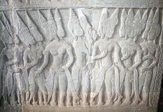Aspara dancers relief Stock Image