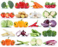 Asparag de pommes de terre de carottes de paprika de laitue de tomates de légumes photo libre de droits