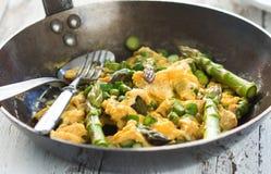 Asparago con le uova Fotografie Stock