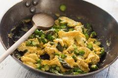 Asparago con le uova Fotografia Stock Libera da Diritti