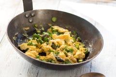 Asparago con le uova Fotografia Stock