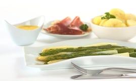 Asparago cucinato Fotografia Stock