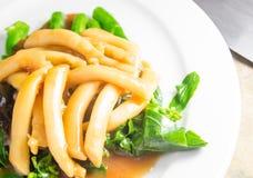 Asparago del mare con la verdura Fotografie Stock Libere da Diritti