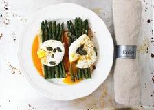 Asparago ed uova Immagine Stock Libera da Diritti