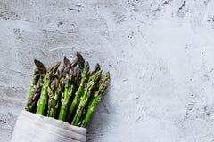 Asparago fresco verde immagini stock