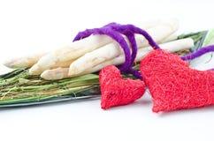 Asparago grezzo bianco fotografie stock