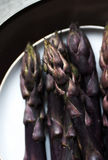 Asparago porpora Fotografie Stock
