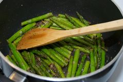 Asparago Sauteed Fotografia Stock Libera da Diritti