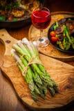 Asparago verde crudo Fotografia Stock