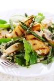 asparagu干酪烤梨沙拉 图库摄影