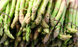 Asparagus. Bundles of asparagus on a marketplace Royalty Free Stock Photography