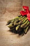 Asparagus. A bunch of asparagus isolated on a vintage background Royalty Free Stock Photography