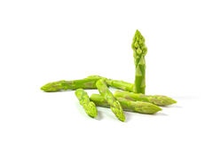 Asparagus. On a white background royalty free stock photo