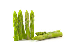 Asparagus. On a white background royalty free stock photography
