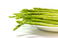 Asparagus. On a white background royalty free stock photos