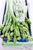 Asparagus. Fresh green Asparagus as closeup Stock Photo